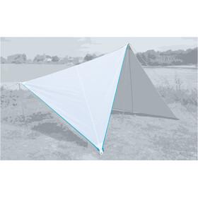 Bent Canvas Single Plain Bâche de toit, white/zipper light blue